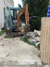 Topoľčany - búranie dovra rodinného domu